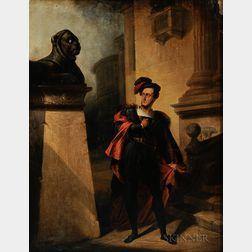 Attributed to Francesco Hayez (Italian, 1791-1881)    The Observer