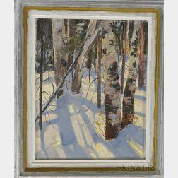 Bob Nally (American, 1938-1990)      Birches in Winter