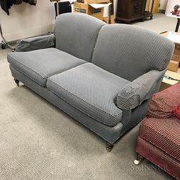 Regency-style Upholstered Mahogany Sofa