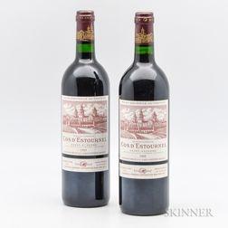 Chateau Cos dEstournel 1995, 2 bottles