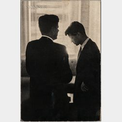 Jacques Lowe (German/American, 1930-2001)      John F. Kennedy and Robert F. Kennedy, Biltmore Hotel, Los Angeles