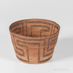 Pima Coiled Basketry Bowl