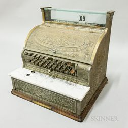 Brass and Marble National Cash Register