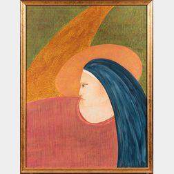 Joaquín Reyes (Puerto Rican, 1949-1994)      Head of a Woman in Profile.