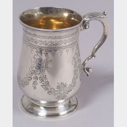 Victorian Sterling Silver Hand-engraved Tankard
