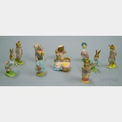 Ten Beswick/Beatrix Potter Ceramic Figures