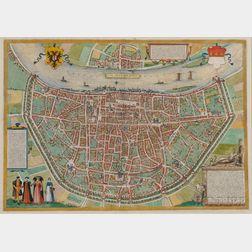 Cologne. Georg Braun (1540-162) and Franz Hogenberg (fl. circa 1540-1590)   Colonia Agrippina urbs ampla florens