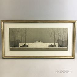 Perry Smith (American, 20th Century)    Watercolor Rendering