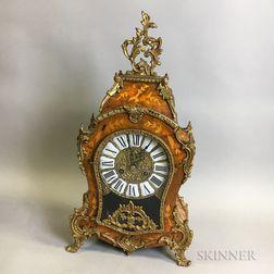 Louis XV-style Ormolu-mounted Marquetry Mantel Clock