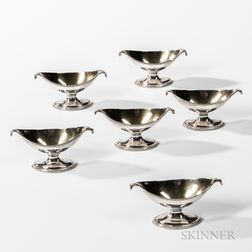 Six George III Sterling Silver Salt Cellars