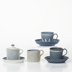 Four Wedgwood Jasper Cups