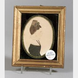 J. Sears (American, Early 19th Century)  Miniature Portrait of a Lady in Black with a Hair Comb
