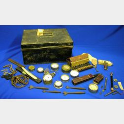Box of Watch Parts, Tools and Man's Items