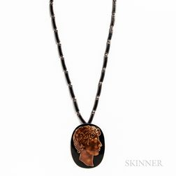 Margot de Taxco Sterling Silver and Enameled Necklace
