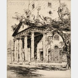 Alfred Heber Hutty (American, 1877-1954)      Old St. Michael's, Charleston