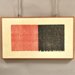 Jane Marie Logemann (American, b. 1942)      Untitled [Red & White]
