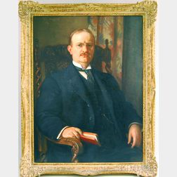 Maurice Ingres (French/American, b. 1855)      Portrait of Charles Franklin Hoover.