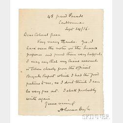 Doyle, Sir Arthur Conan (1859-1930) Autograph Letter Signed, 24 September 1916.
