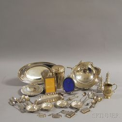 Group of Mostly Sterling Silver Tableware and Flatware