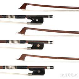Three German Cello Bows