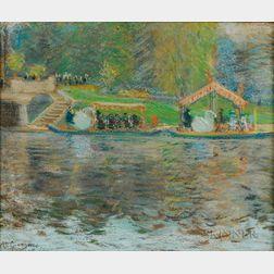Arthur Clifton Goodwin (American, 1866-1929)      Swan Boats