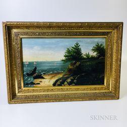 American School, 19th Century       Coastal Landscape