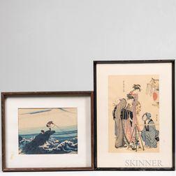 Two Ukiyo-e Woodblock Prints