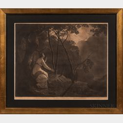 """John Raphael Smith (British, 1751-1812), After Joseph Wright of Derby (British, 1734-1797)      The Lady in Milton's """"Comus."""""""