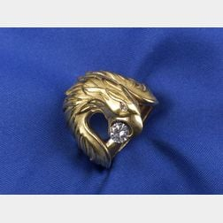 18kt Gold and Diamond Eagle Ring