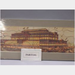 Set of Five Brett Lithograph Co. United States 1876 Centennial Exhibition Buildings   Jigsaw Puzzles