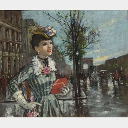 François Gerome (French, b. 1895)    L'Arc de Triomphe a Paris