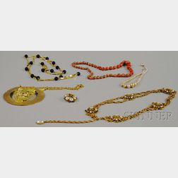 Six Costume Jewelry Items