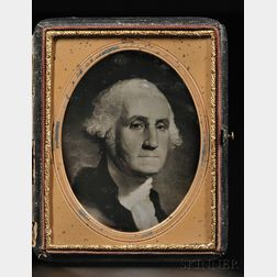 Quarter-plate Daguerreotype Portrait of George Washington After Gilbert Stuart