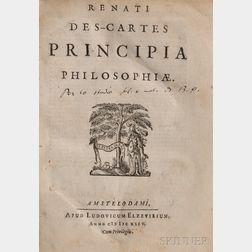Descartes, Rene (1596-1650) Principia Philosophiae.