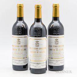 Chateau Pichon Lalande 1996, 3 bottles