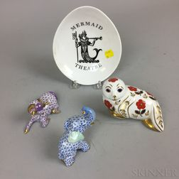Four Porcelain Items