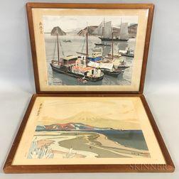 Two Framed Modern Japanese Prints