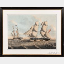 British School, 19th Century      The Sailing Lifeboat Frances Ann   off the English Coast