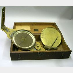 Brass Vernier Surveyor's Compass by William Young