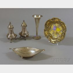 Five Small Sterling Tablewares
