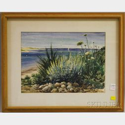 Barbara E. Wickwire (American, 1913-2007)      Queen Anne's Lace by the Shore / A Cape Cod View.