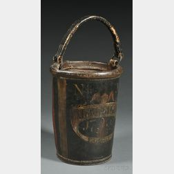 Federal Fire Society Paint-decorated Leather Fire Bucket