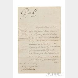 George III of the United Kingdom (1738-1820) Signed Military Commission, 8 June 1798.