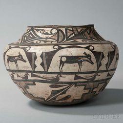 Zuni Polychrome Pottery Jar