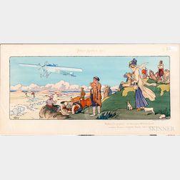 Mabileau & Co. Paris-Madrid 1911   Racing Lithograph
