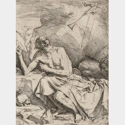 Jusepe de Ribera (Spanish, 1591-1652)      Saint Jerome Hearing the Trumpet of the Last Judgment