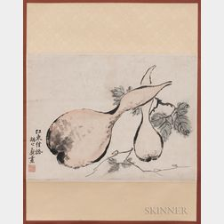 Hanging Scroll Depicting Gourds