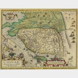China. Abraham Ortelius (1527-1598) Chinae, olim Sinarum regionis, nova descriptio auctore Ludovico Georgio.