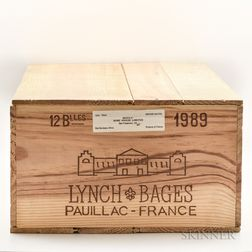 Chateau Lynch Bages 1989, 12 bottles (owc)