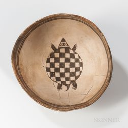 Mimbres Black-on-white Picture Bowl